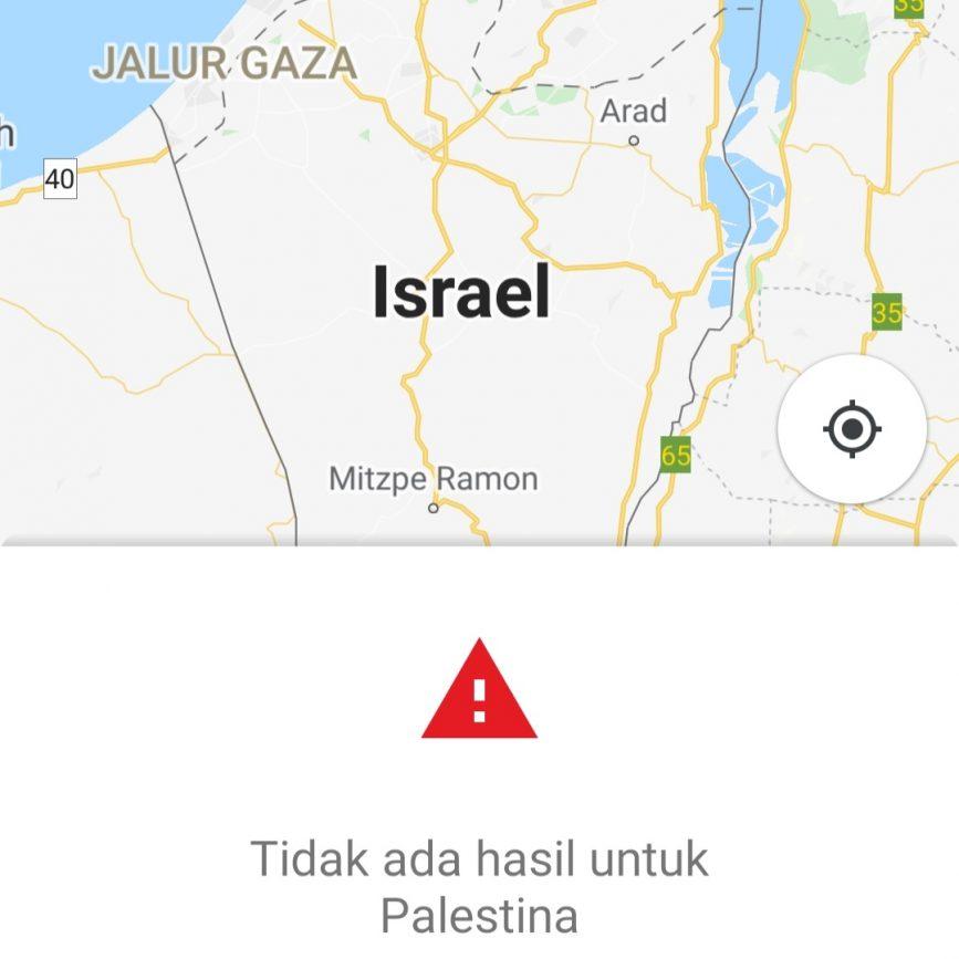 Palestina-hilang-dari-peta-google-map
