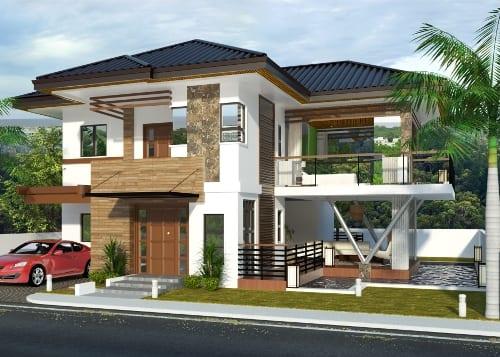 Model Rumah Minimalis 2 Lantai Nuansa Alam