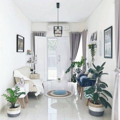 konsep desain dan dekorasi ruang tamu mungil cantik