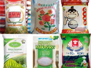 Daftar beras terbaik di Indonesia